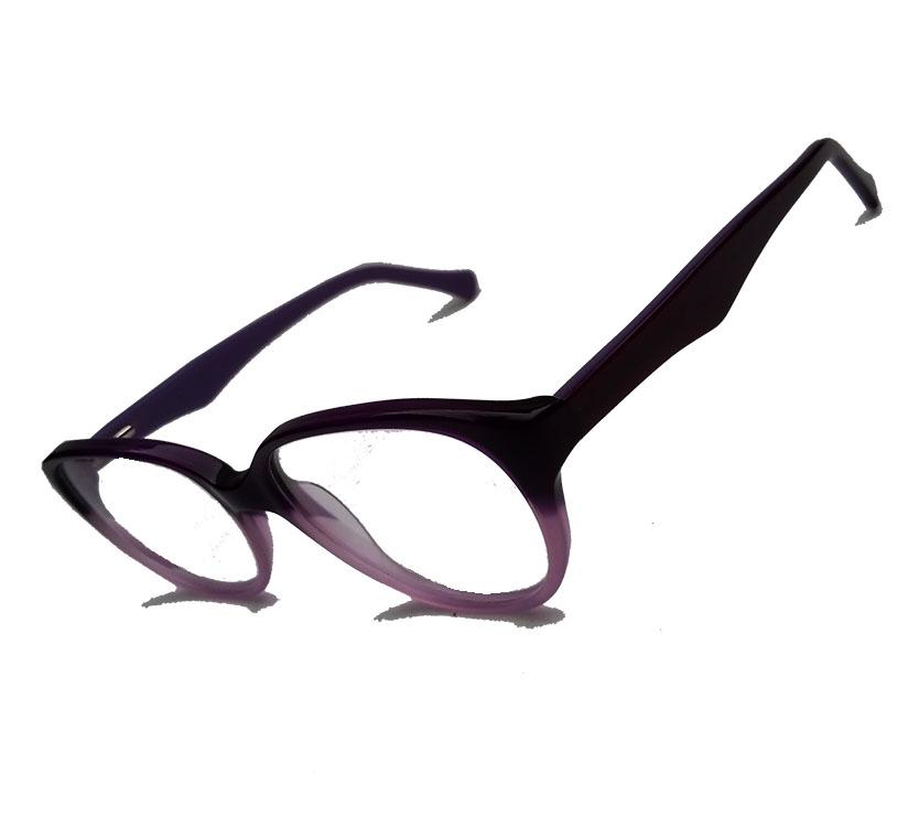 Armação De Óculos Para Grau infantil juvenil Amora Roxo Round Degrade 513