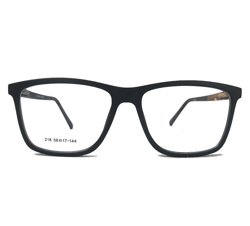 Armação de oculos para grau Masculino Quadrado Fosco Preto 1057 Thomas