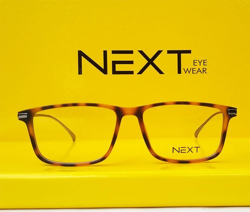 Armação de óculos para grau Next N81009 Quadrado Tartaruga Metal New