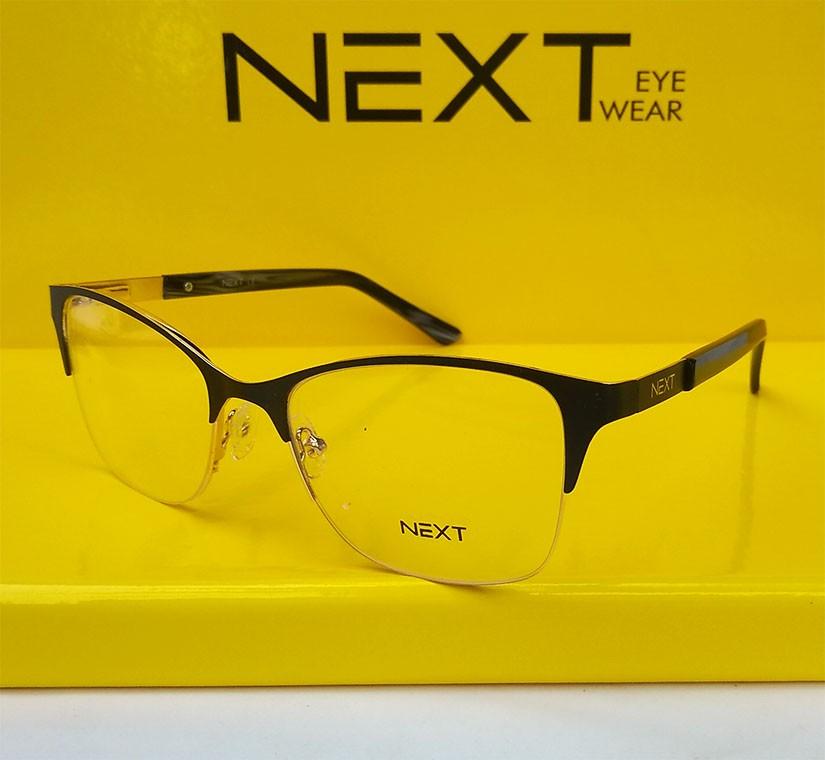 Armação de óculos para grau Next N81214 Feminino Gatinho Metal Charme