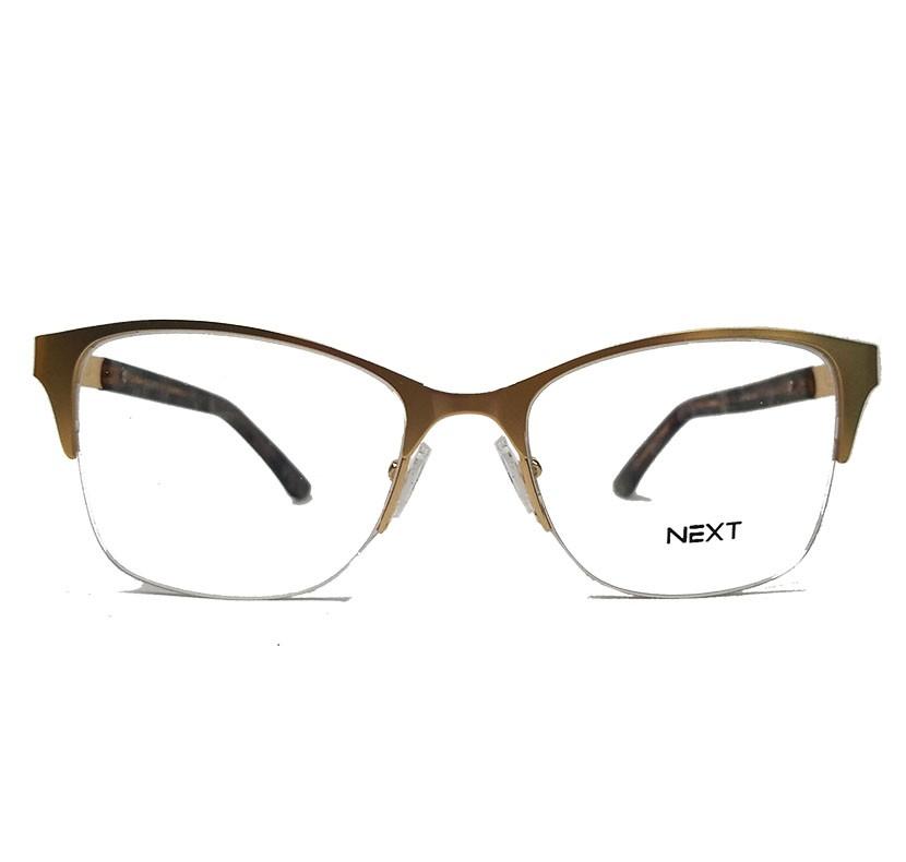 Armação de óculos para grau Next N81214 Feminino Gatinho Metal dourado