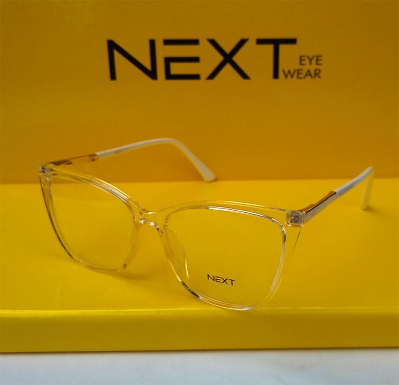 Armação de óculos para grau Next N81252 Feminino Cristal transparente Gatinho
