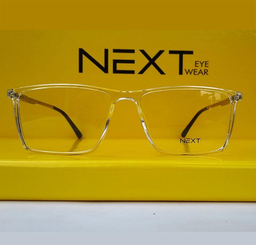 Armação de óculos para grau Next N81305 Quadrado transparente Cristal incolor New
