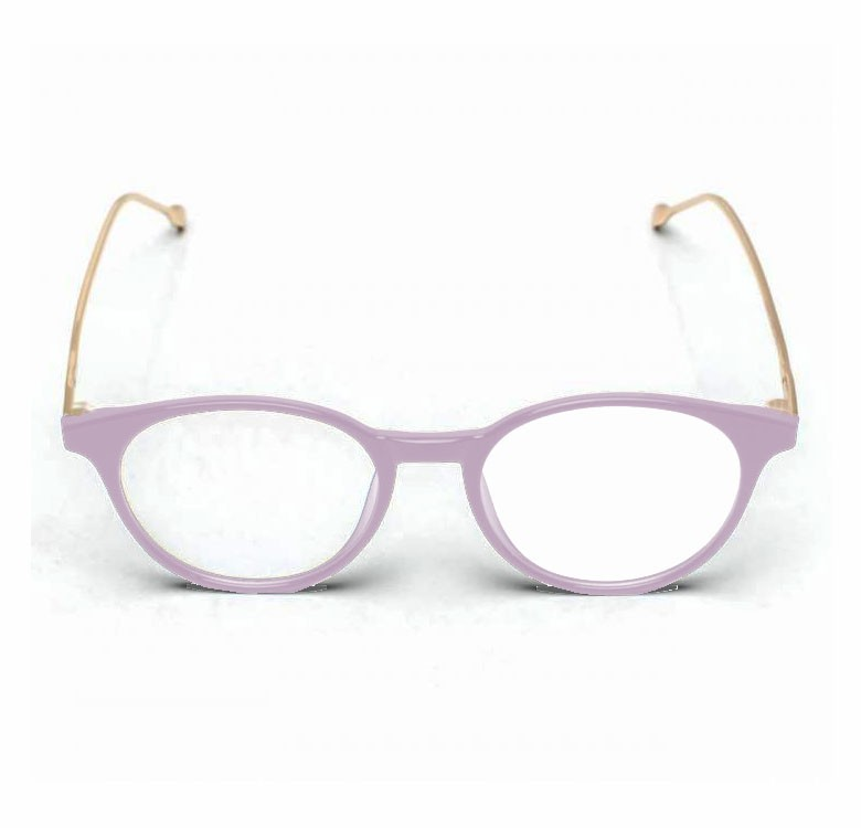 Armação De Óculos para grau Redondo Rosa Nude TR7157 Light Pink