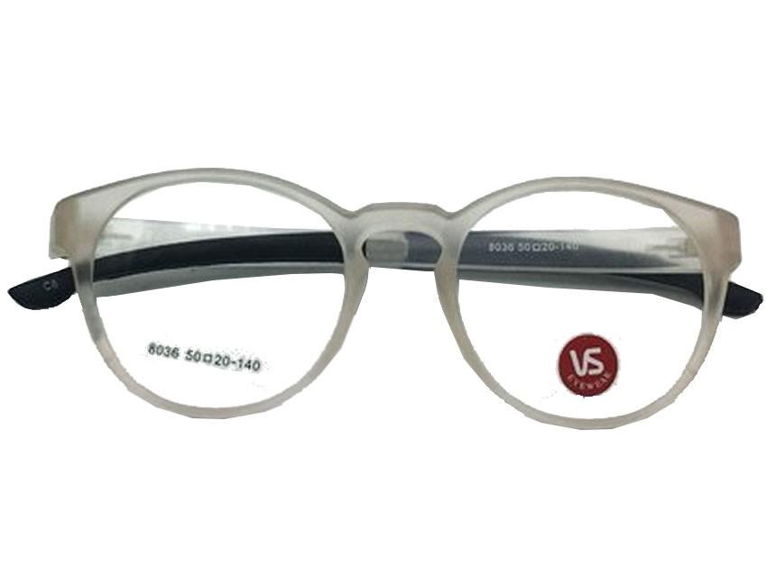 Armação De Oculos Redondo 5781 Transparente Matte fosco Resistente