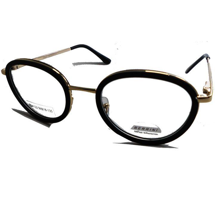 Armação De Oculos Redondo 5920 Retro Eraser Black Berrini