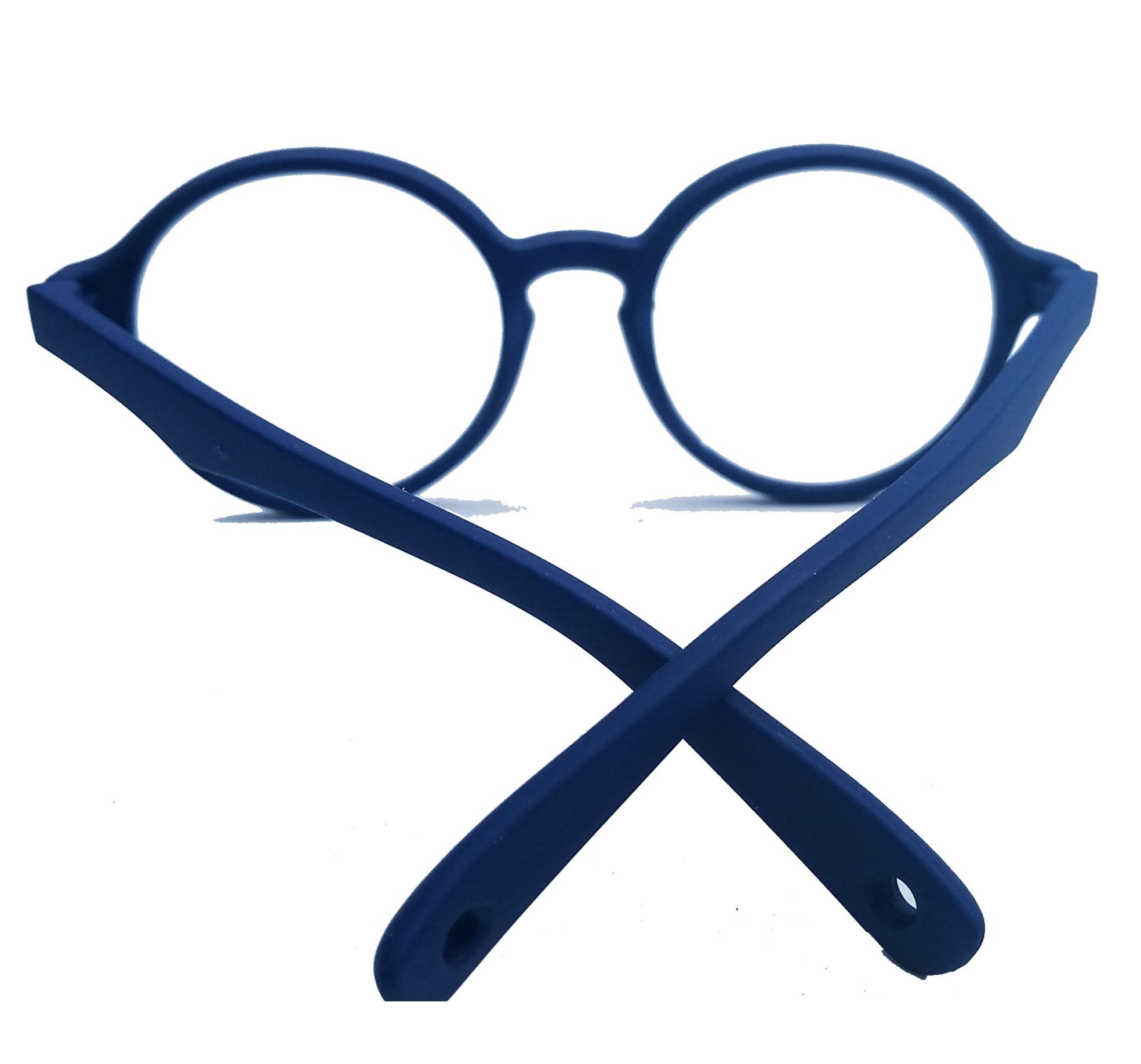 Armação De Oculos Redondo Infantil Silicone Inquebrável Flexível maleável