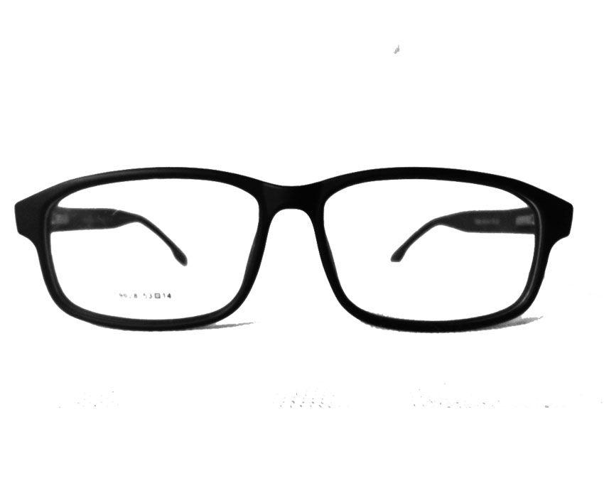 Armação De Óculos Thomas T9028 Black Fosco Haste Flexível