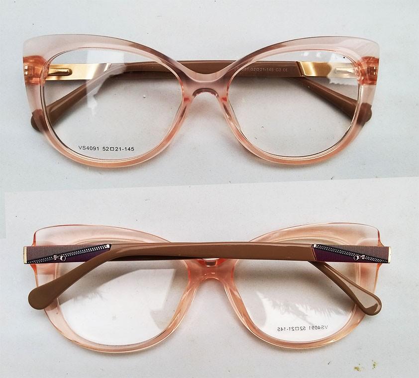 Armação De Oculos Transparente Gatinho 3295 Crystal Glass Camila