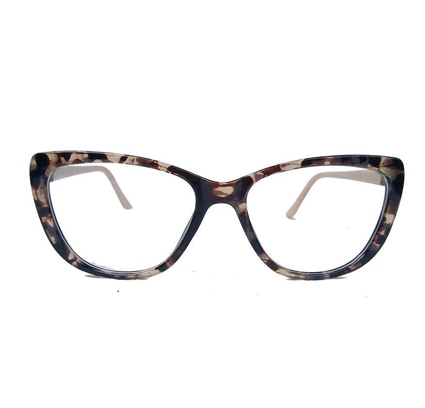 Armação De Óculos De Grau Gatinho retro Varnish Tartaruga Nude 1266