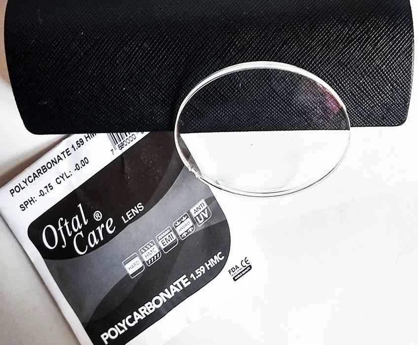 Lentes para oculos em Policarbonato CR 1.59 Miopia Astigmatismo hipermetropia Grau-6 leve e resistente Cil -2