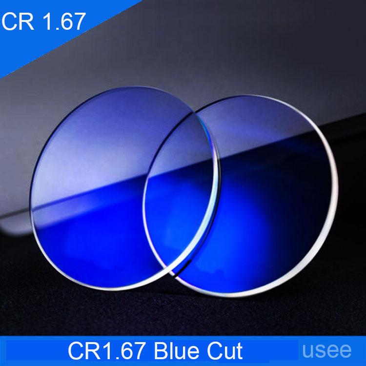 Lentes para Óculos em Policarbonato HMC SVision CR 1.67 Blue Cut Protection Digitais Alta Miopia