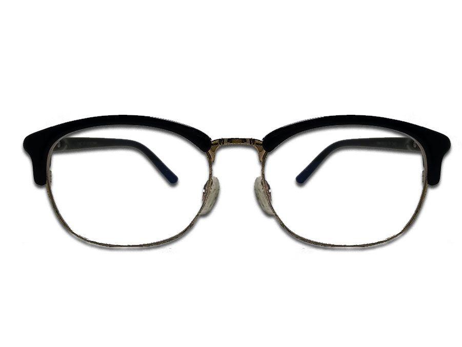 Óculos de grau Clubmaster clássico retro vintage Redondo Black