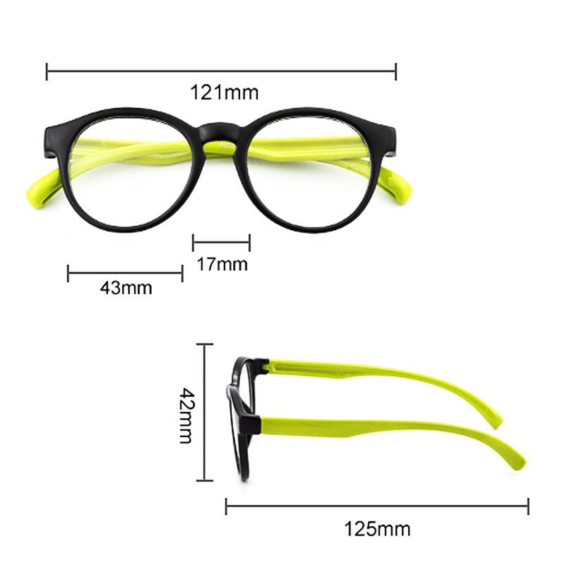 Oculos De Grau Infantil Inquebrável Silicone Redondo Marinho Yellow Rubber