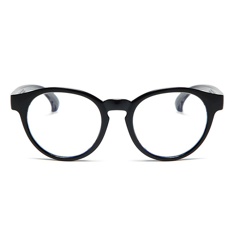 Óculos De Grau Infantil Inquebrável Silicone Redondo Preto Rubber