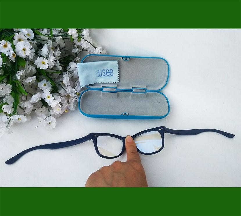 Oculos De Grau Infantil Inquebrável Silicone Wayfarer Azul Leve Flexível S886