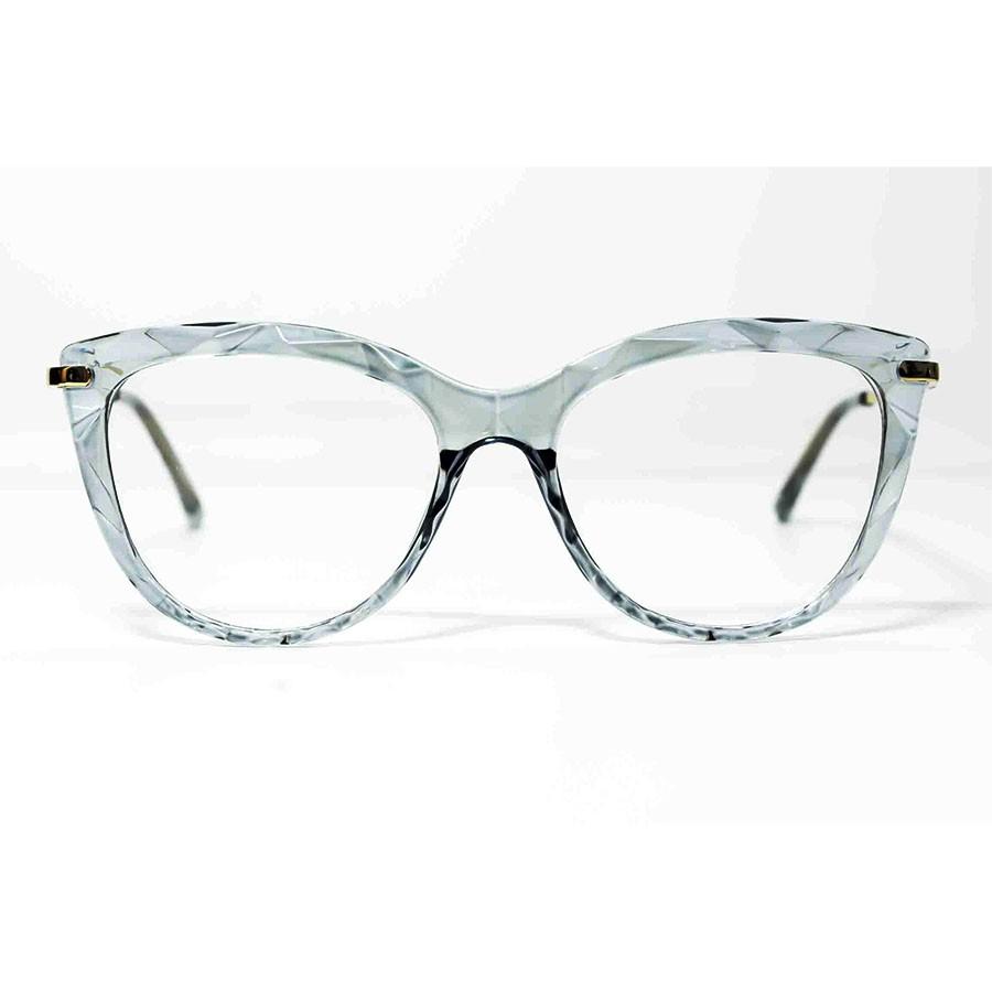 Oculos De Grau Mosaico Transparente Cristal Lapidado Diamante 3D