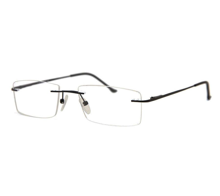 Óculos de grau multifocal sem aro Retangular Balgriff  Light 9863 lentes em Policarbonato EPS