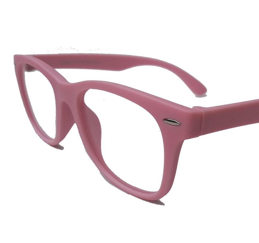 Oculos De Grau Wayfarer Infantil Inquebrável Silicone Rosa Leve Flexível Menina S886