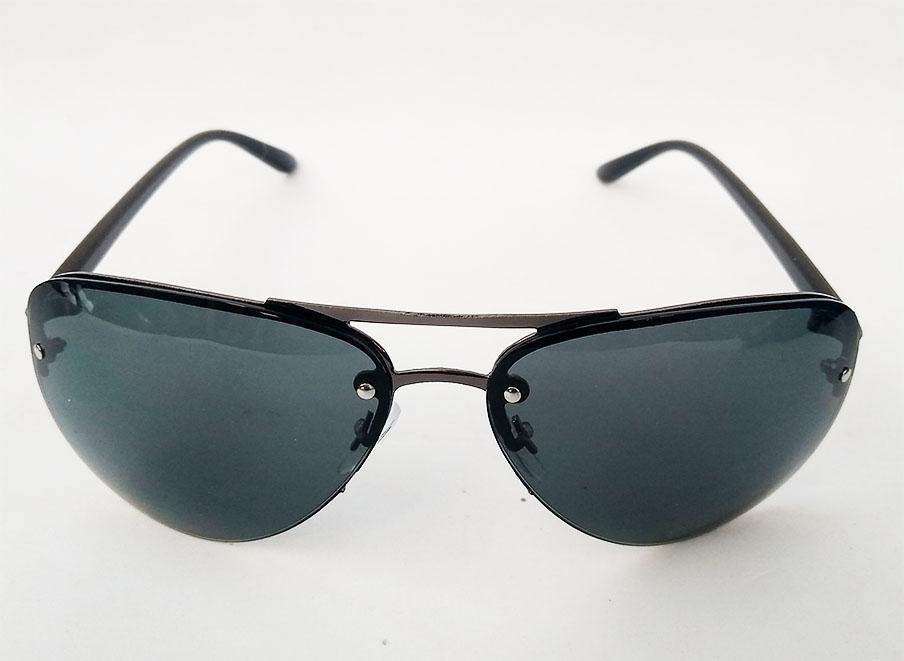 Óculos De Sol Aviador sem aro Mascara 1306 Black Belos