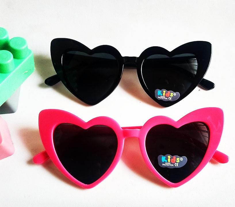 Oculos De Sol de Coração Pink Infantil meninas Kids Princesa inquebrável