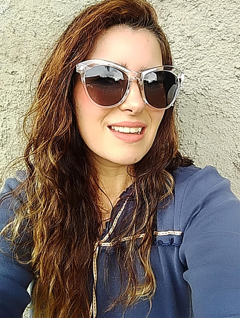 Óculos De Sol Feminino Gatinho Fashion Cristal transparente Mariana 18154