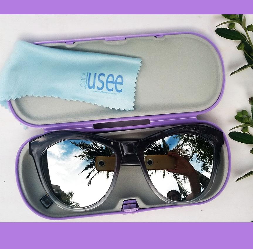 Óculos De Sol Feminino Gatinho Fashion Espelhado Degrade Cristy 18154