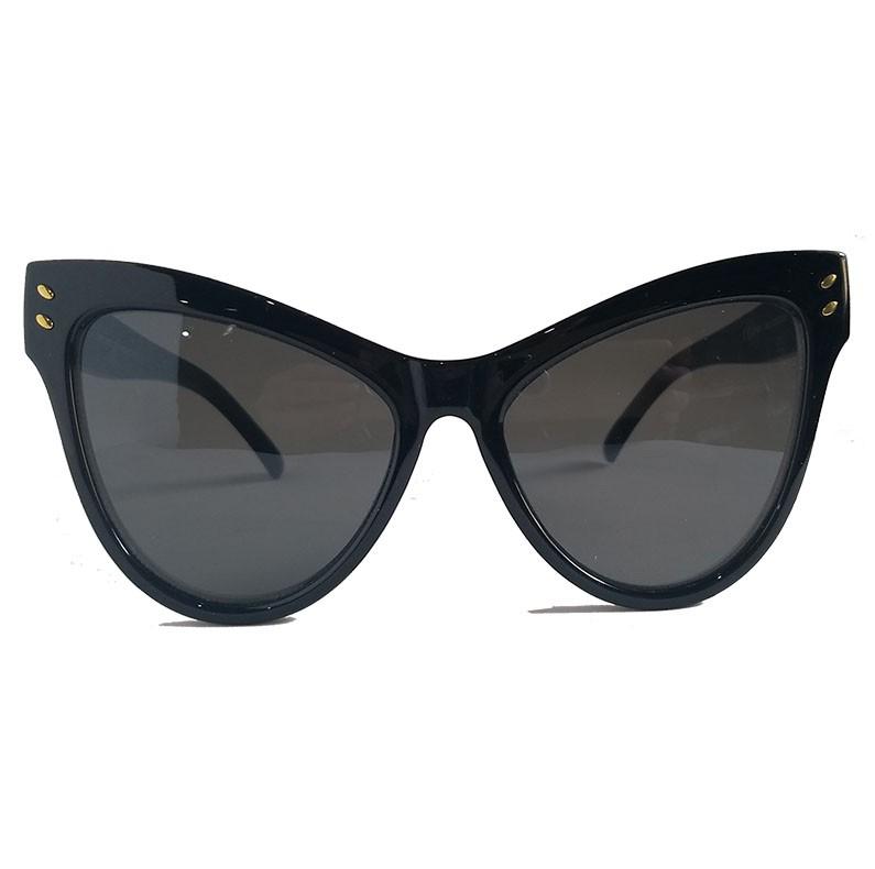 Oculos De Sol Feminino Gatinho grande High Cat Black Meliceli Oversized Luxo