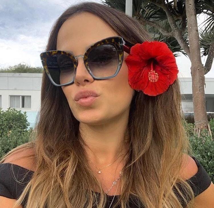 Oculos De Sol feminino Gatinho Grande Over Luxo Exclusivo 2020