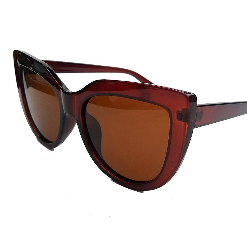Oculos De Sol Feminino Gatinho Over Cat Lux Brown