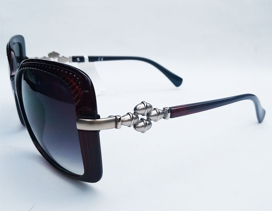 Oculos De Sol Feminino Quadrado Grande Over Bordo Lux Retro Jaqueline