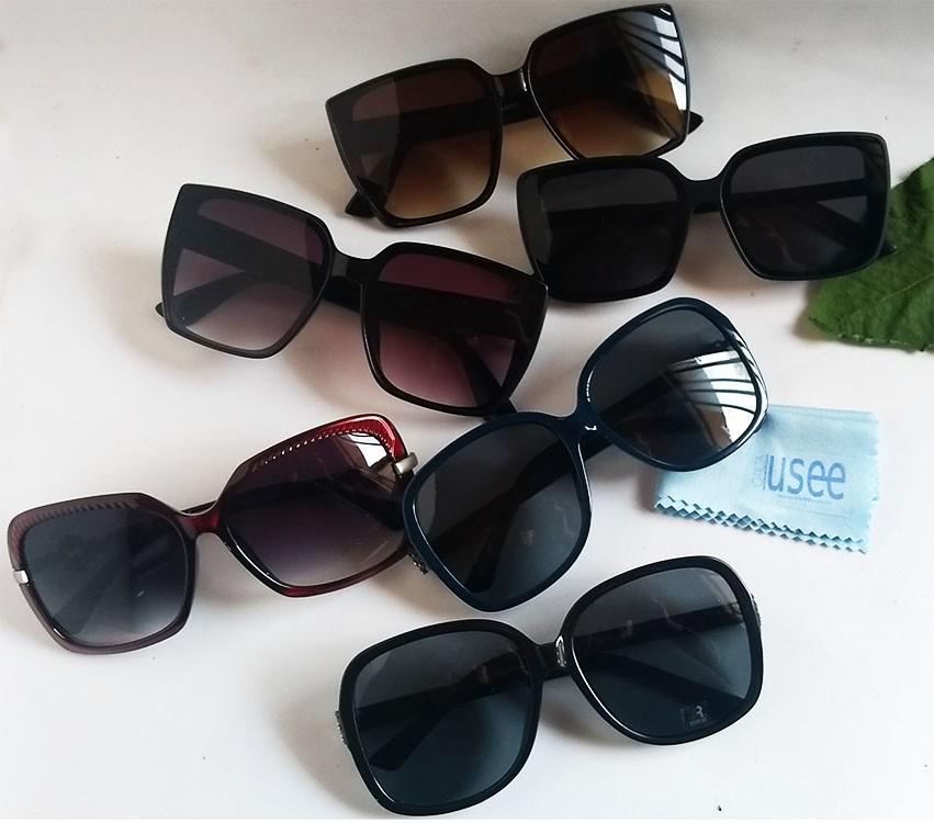 Oculos De Sol Quadrado Feminino Grande Retro Oversize Marine TS264