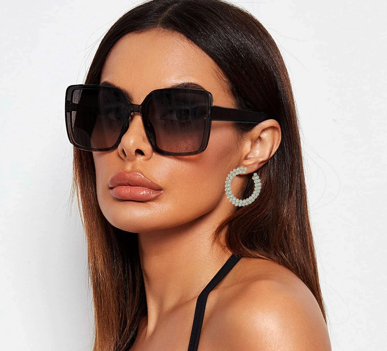 Oculos De Sol Feminino Quadrado Grande Over Mirage Brown