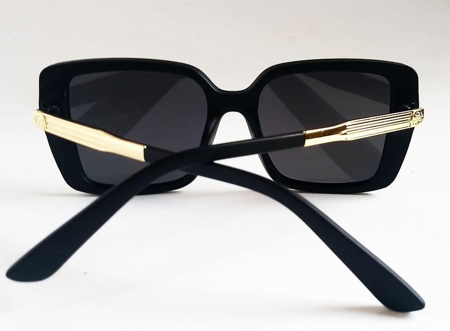 Oculos De Sol Feminino Quadrado Grande Over Vintage Black Mirage