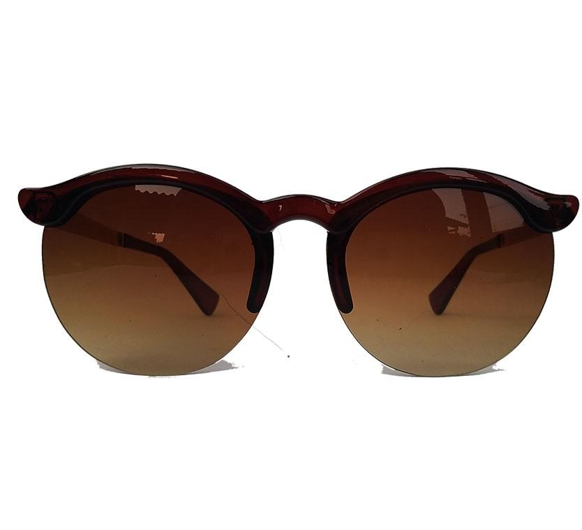 Oculos de Sol Feminino Redondo Marrom Yasmin