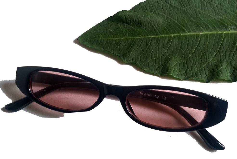 Oculos De Sol Fino Small Retro Vintage Slim Vermelho Tartaruga Black skinny