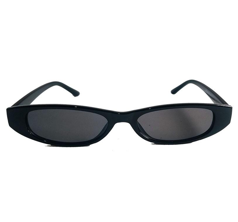 Oculos De Sol Fino Small Vintage Retro Fino Slim Black Rihanna