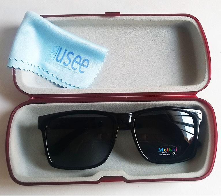 Oculos De Sol infantil Justin Preto Polarizado Kids Confort Meikai