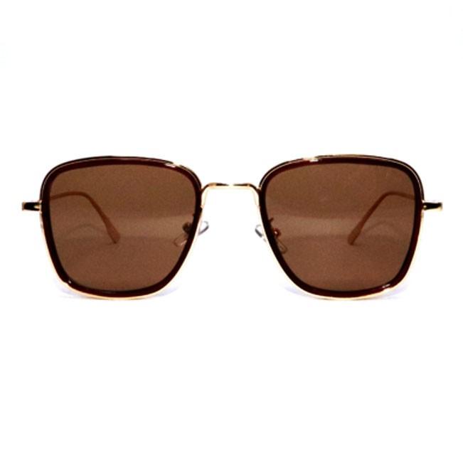 Oculos De Sol Metal dourado Vegas Shades Hexagonal Retangular Squad Uv400