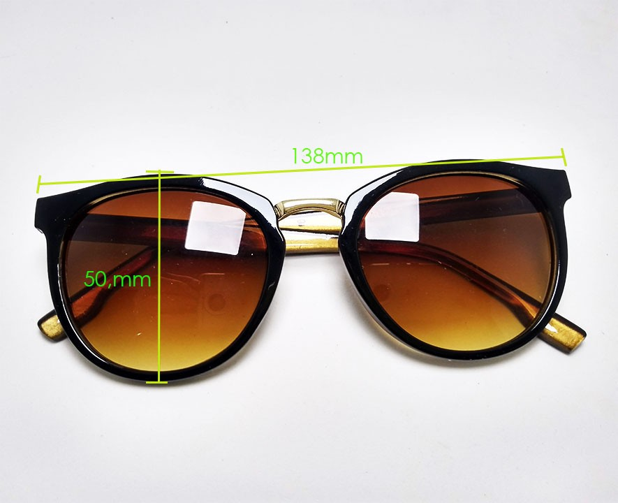 Oculos De Sol Redondo Dark Brown Confort 9693