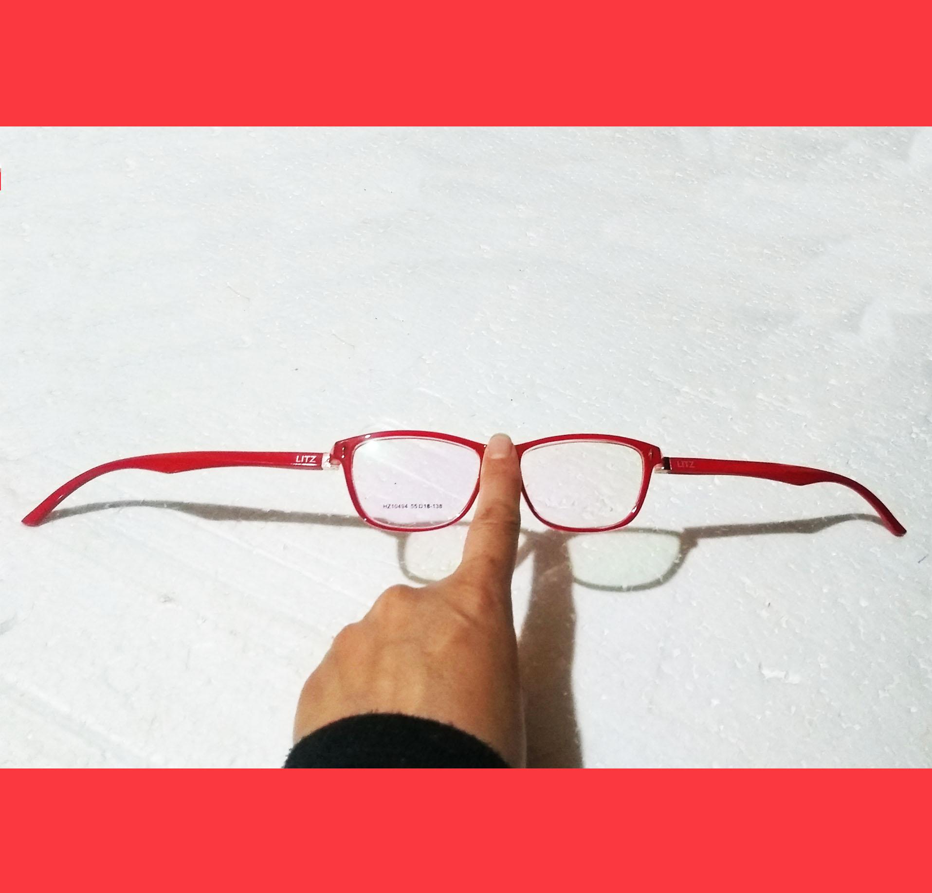 Óculos para grau Juvenil Vermelho Wayf Hastes Metal Abertura total Ruby Retangular