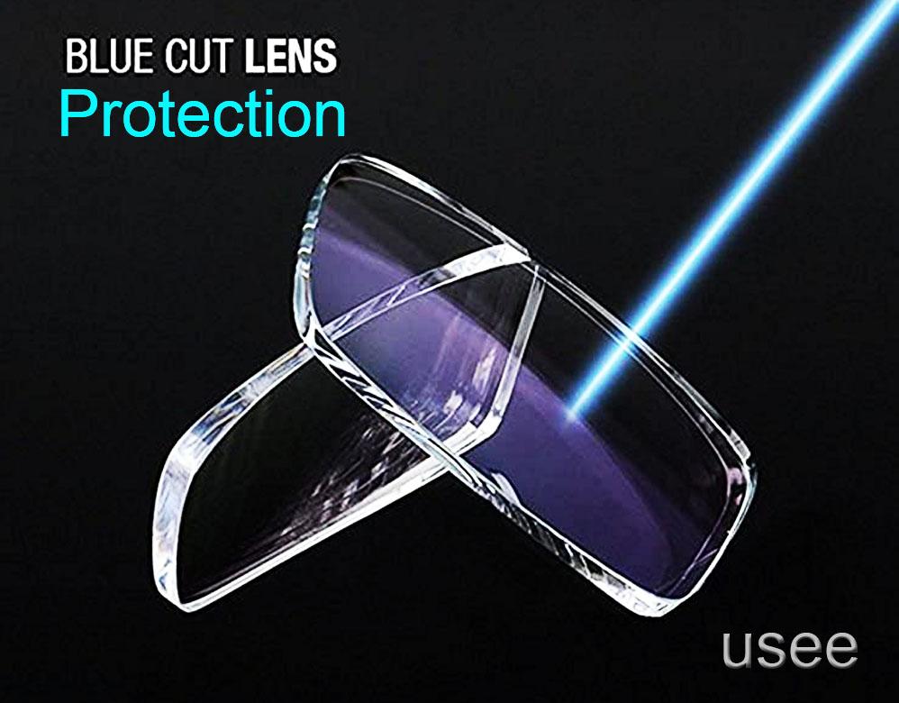 Par de Lentes para óculos Digitais Blue Cut Azul Protection para eletrônicos c/AR Visão Simples CR1.56