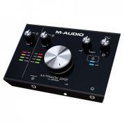 M-Audio M-Track 2x2 Interface de Audio USB, 2 Entrdas, 2 Saidas