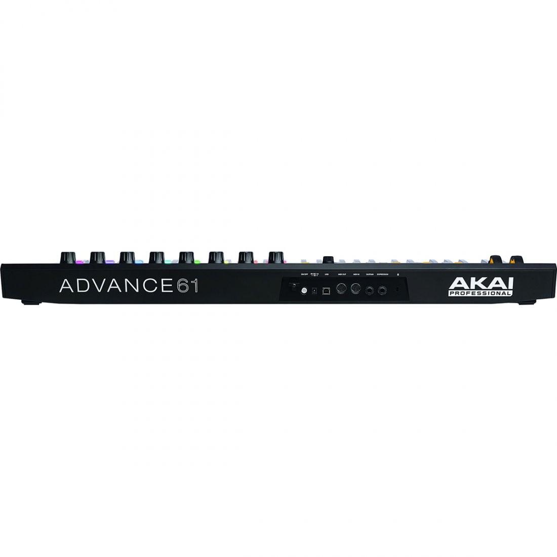 Akai Advance 61 Controladora Midi, 61 Teclas, 8 Pads, 8 Knobs, Usb, Bivolt
