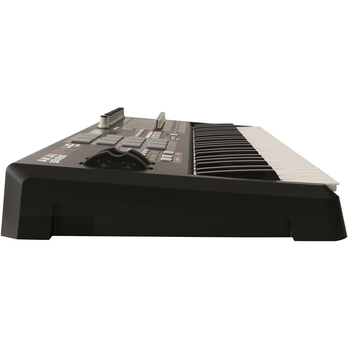 Akai MPK49 Teclado Controlador, Midi, Com MPC Pads, Usb, Bivolt