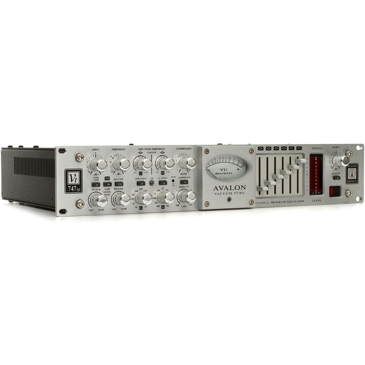 Avalon VT-747SP Stereo Compressor de Áudio, 6-Band EQ, 110v