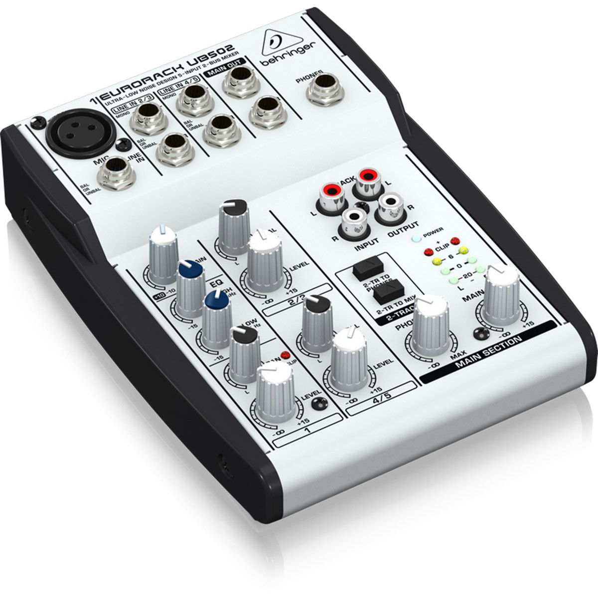 Behringer EuroRack UB502 Mesa Mixer, 5 Canais, 220v
