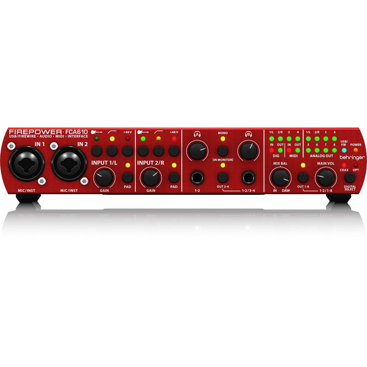 Behringer FCA610 FirePower Interface de Audio, Usb, Bivolt