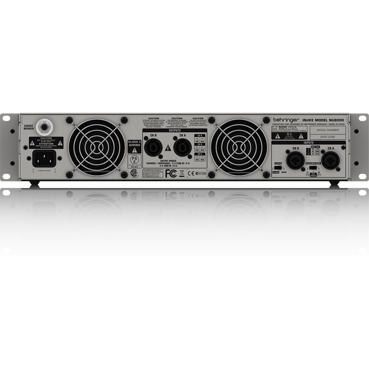 Behringer iNuke NU6000 Amplificador, 220v