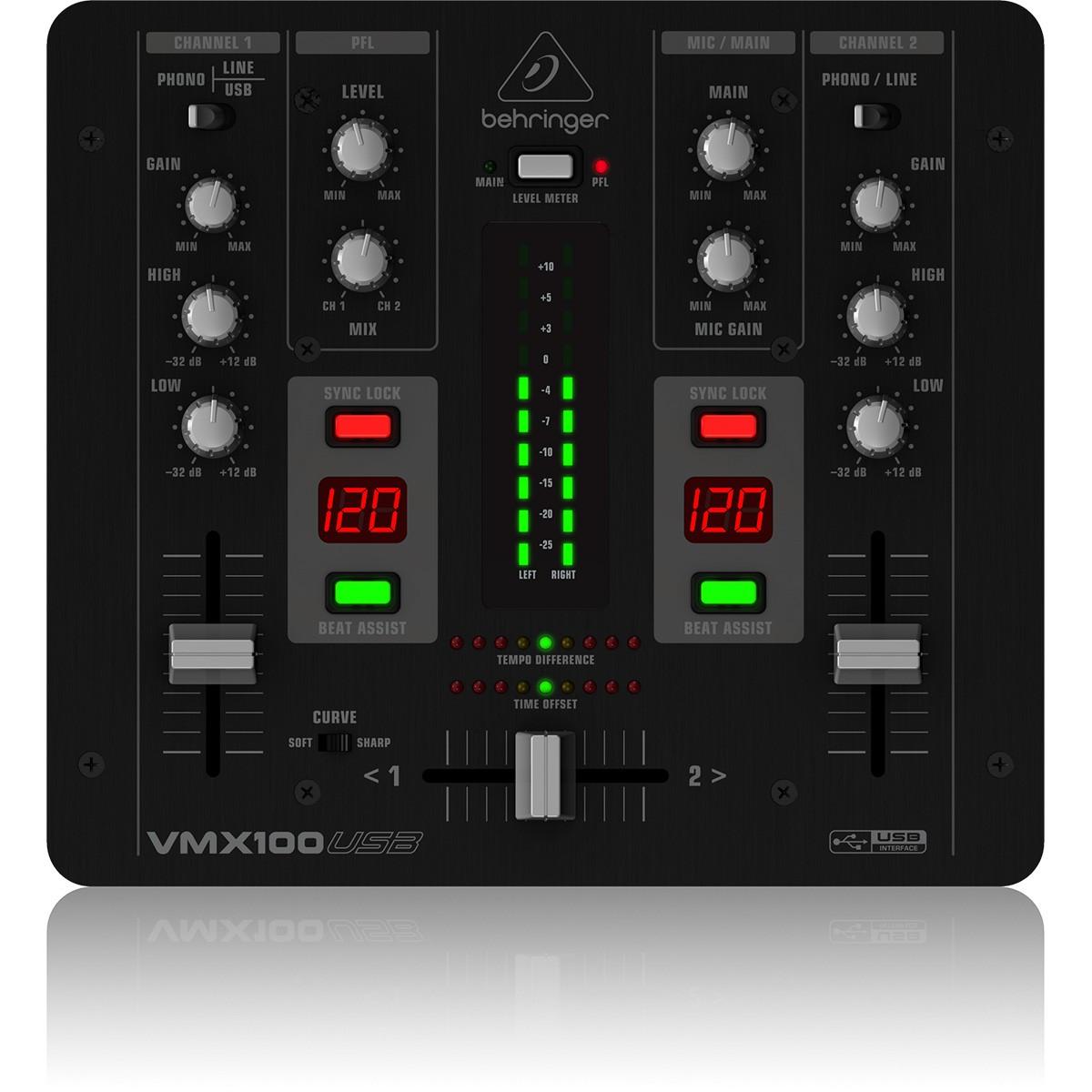 Behringer VMX100 Usb Mixer de Dj de 2 Canais, 220v